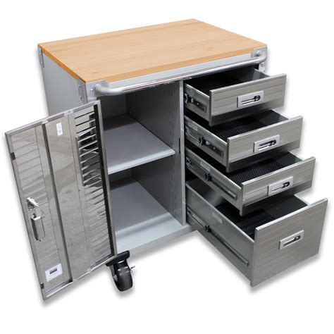 Seville Classics Ultrahd Rolling Storage Cabinet With