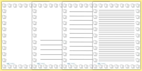 page bordered writing paper paper borders  teachers