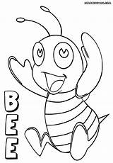 Bee Coloring Sheet Puppet Colorings Bee4 Template sketch template