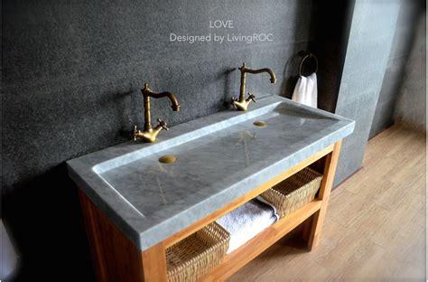 Mm Double Trough Carrara White Marble Bathroom Sink-love