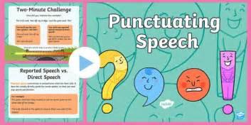 punctuating speech powerpoint punctuating speech