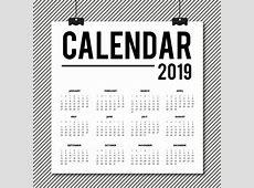 Vector 2019 calendário design Baixar vetores grátis