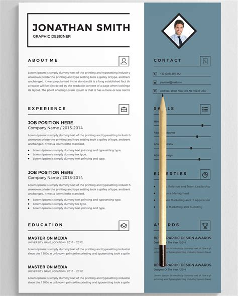 Resume Template Smith by Jonathan Smith Resume Template 75963
