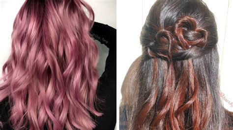 Sunset Pink And Rose-gold Hair Colors Are Trending For
