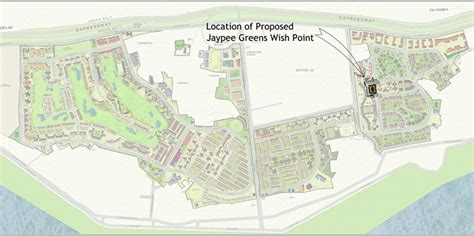 Site Map Of Jaypee Greens Wish Point  Fresh Projects