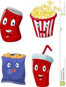 Cartoon Popcorn and Soda