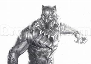 The Black Panther Drawing Tutorial, Step by Step, Marvel ...
