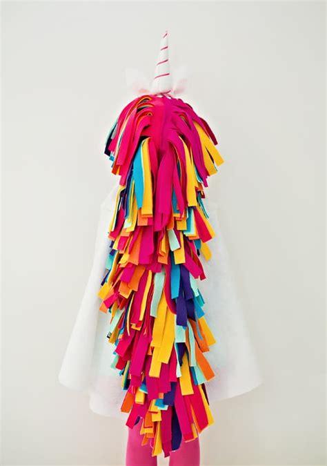 wonderful diy  sew felt rainbow unicorn costume  kids