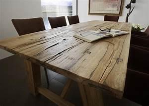 Holztisch Massiv Esszimmer : esstisch 200 x 100 cm in balkeneiche eiche massiv ge lt neu woody 11 heimideen pinterest ~ Indierocktalk.com Haus und Dekorationen