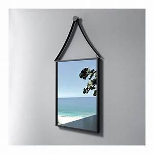 Miroir Cadre Noir : miroir rectangulaire avec cadre inox noir sdvm4260 ~ Teatrodelosmanantiales.com Idées de Décoration