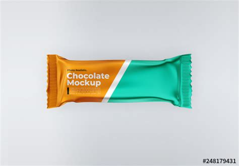 The biggest source of free chocolate bars mockups! Chocolate Bar Mockup. Buy this stock template and explore ...