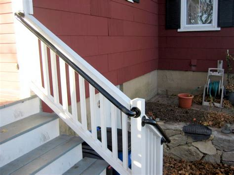 Porch Stair Handrail by Easy To Install Metal Deck Railing