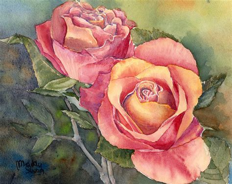 red roses painting  maddy swan