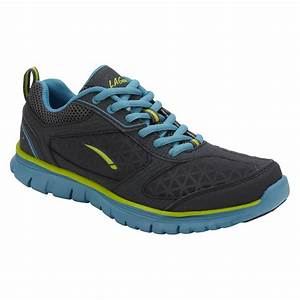 LA Gear Women's Shannon Running Athletic Shoe - Grey/Blue ...