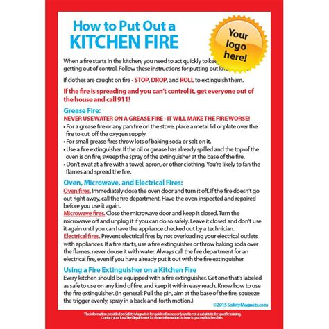 Kitchen How To Put Out by How To Put Out A Kitchen Magnet 5x7 25 Mil 857