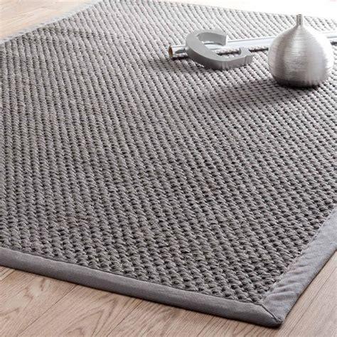 tapis de cuisine gris tapis tressé en sisal gris 160 x 230 cm bastide maisons du monde