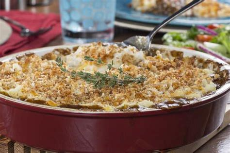Shepherd's pie is basically a casserole made of cooked meat with gravy which gets topped with a layer of it is comfort food at it's best! Cumberland Pie   Recipe   Recipes, Cottage pie, Baked dishes