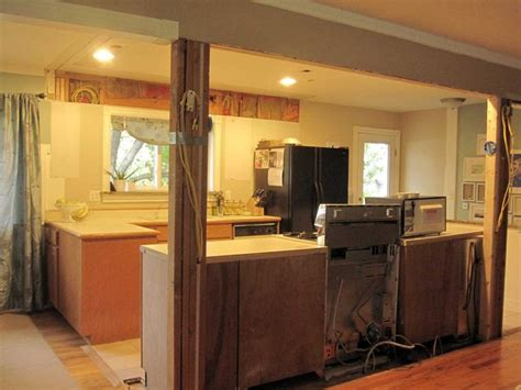 galley kitchen open to dining room kitchen wall open after from living room new house 8296