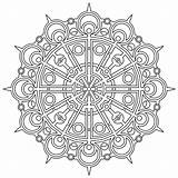 Geometric Pages Coloring Printable Patterns Mandala Adult Adults Hard Difficult Mandalas Flower Animal sketch template