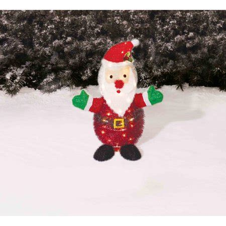holiday time christmas decor  tinsel santa yard light
