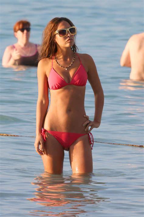 myleene klass red bikini  barbados  gotceleb