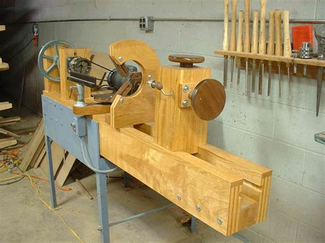 homebuilt wood lathe