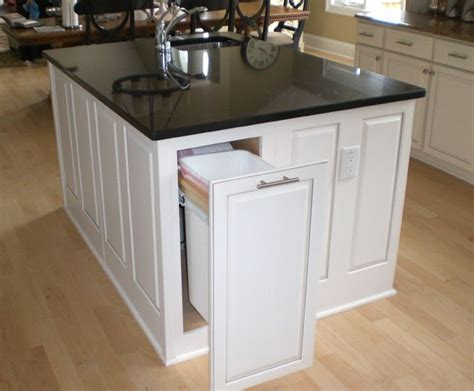 kitchen island trash 17 best images about kitchen island ideas on pinterest trash bins high dining table and black