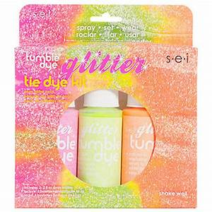 s e i Crafts Fabric Spray Paint Neon Glitter Colors 2 oz