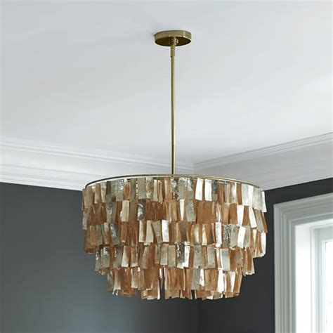 capiz chandelier gold west elm
