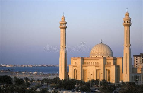 Grand Mosque Bahrain stock photo. Image of grand, gulf ...