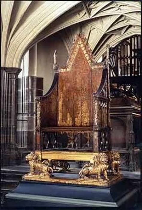 King Edward Coronation Chair by The Throne Of Scone And The Coronation On