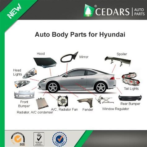China Auto Body Parts Accessories For Hyundai Accent