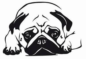 Pferdekopf Schwarz Weiß : hunde wandtattoo mops 6 tierisch tolle geschenke ~ Watch28wear.com Haus und Dekorationen