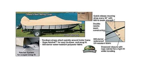 Cabela S New Boats For Sale by Cabela S Ratchet Tite Boat Covers Cabela S