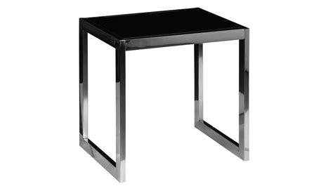 bout de canapé verre bout de canapé inox et verre trempé noir table d 39 appoint