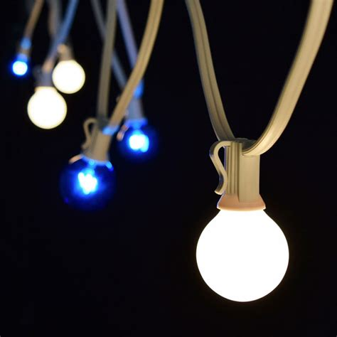 c7 blue white globe string lights 25 white light strand