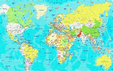 Zoomable World Map Showing All Countries