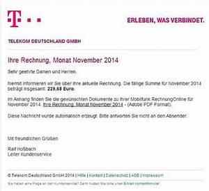Deutsche Telekom Rechnung Online : gef lschte telekom rechnung mit virus sorgt f r rger computer medien badische zeitung ~ Themetempest.com Abrechnung