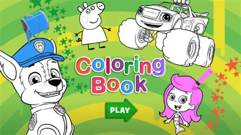 nick jr coloring book  kids youtube