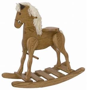Amish Oak Wood Rocking Horse