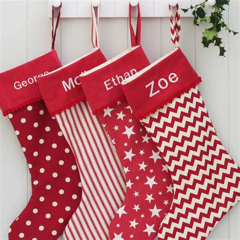 personalised santa stocking luxury personalised santa by hide seek textiles notonthehighstreet