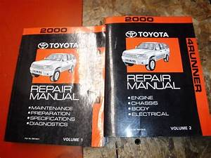 2000 Toyota 4runner Original Factory Service Manual Shop