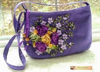 tinas handicraft bag  ribbon embroidery