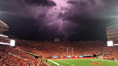 Stadium Nebraska Football Husker Memorial Lightning Akron