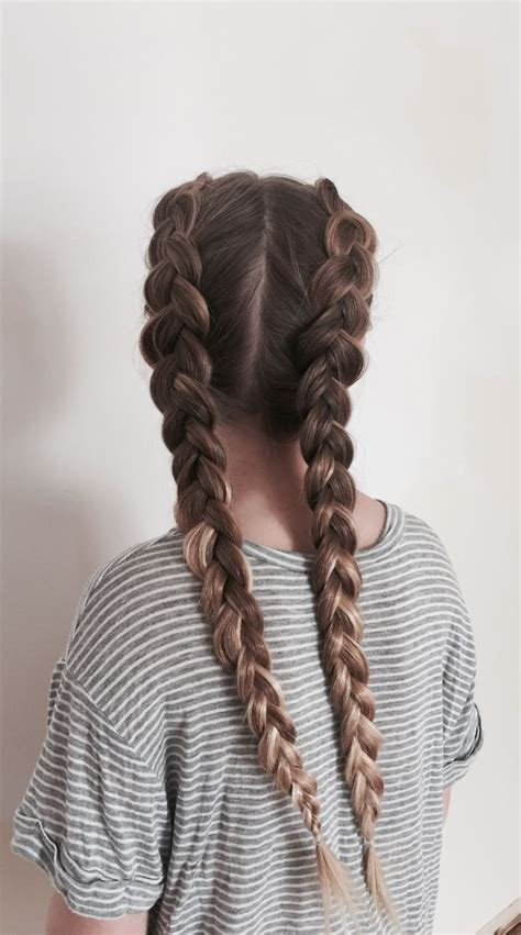 two dutch braids medium hairstyle в 2019 г