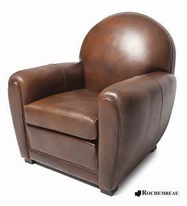 Fauteuil club newquay fauteuil club en cuir basane rochembeau for Fauteuil cuir club