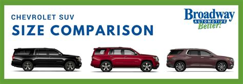Size Suv Comparison by Broadway Automotive Official