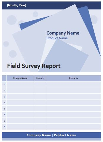 field survey report template word templates