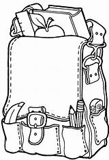 Backpack Colouring Pages Stationary Picolour sketch template