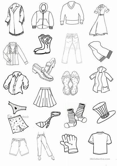 Flashcards Clothes Printable Worksheets Worksheet Esl Clothesline